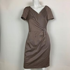 Reiss Dress Brown Sheath Career Cocktail Size 6